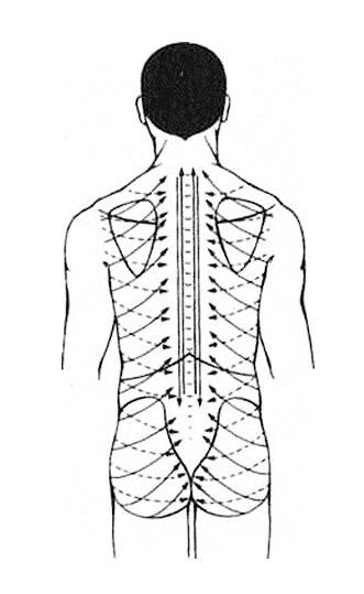 Kneipp-Anwendung: Rückenblitz - Führung des Wasserstrahls