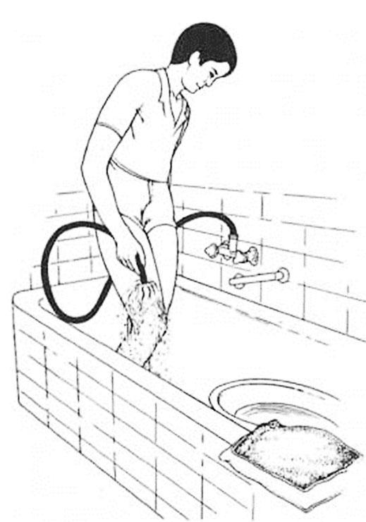 Fußbad in der Wanne