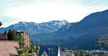 Kur im Schweizer Städtchen Davos